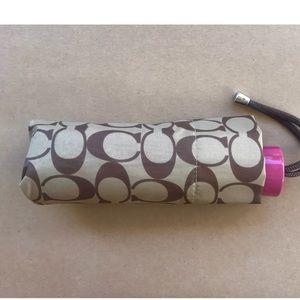 Authentic COACH mini retractable nylon umbrella